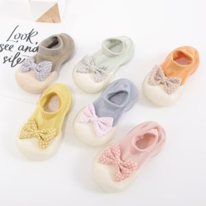 Baby Socks with Rubber Sole Floor Non-slip Cotton Bow Socks Baby Girls Soft Cute Boots Baby Shoes for Toddler Little Girl Shoes Uncategorized