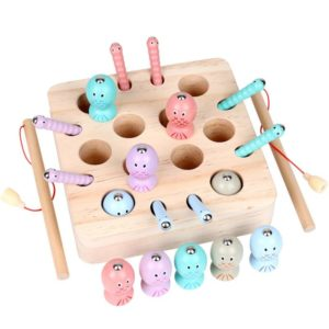 Baby Wooden Montessori Toys Digit Magnetic Games Fishing Toys Game Catch Worm Educational Puzzle Toys For Children Gifts Tous les produits
