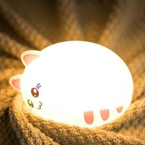 Lovely Silicone Cat LED Night Light USB Charge Silicone Animal Cartoon Nursery Lamp Baby Children Birthday Gift Toy Night Lamp Tous les produits