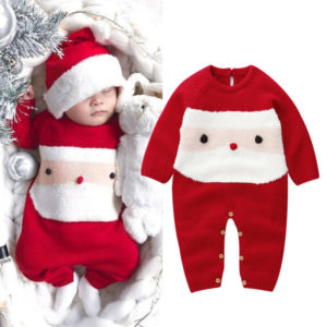 Infant Baby Boy Girl Christmas Romper Knitted Wool Santa Claus Warm Rompers Long Sleeve Cartoon Jumpsuit Outfits Clothes 0-2Y Tous les produits