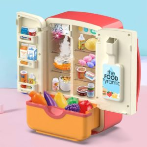 Children Toys Simulation Fridge Pretend Role Play Montessori Electric Kitchen Double Door Refrigerator Small Household For Girls Uncategorized
